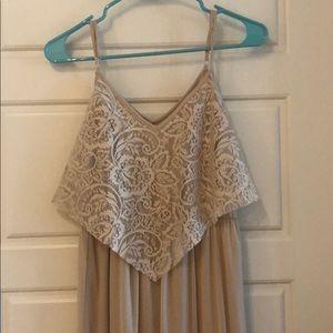 Long Formal Light Blush/Tan Dress